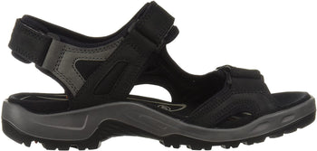 ECCO OFF ROAD BLACK OIL NUBUCK MEN'S SANDAL