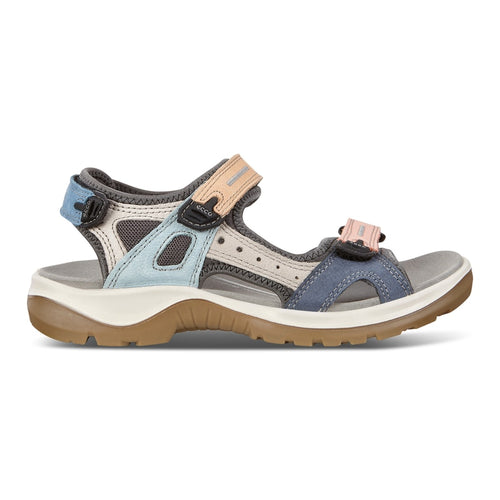 ECCO WOMEN'S OFF ROAD MULTI COLOR LEATHER SANDAL