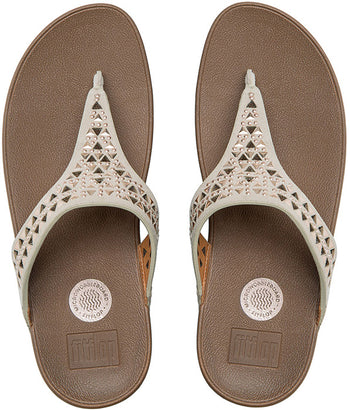 FIT FLOP CARMEL TOE POST ROSE GOLD SANDALS