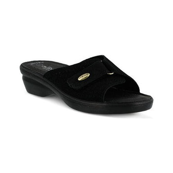 FLEXUS KEA BLACK SLIDE/SANDAL BY SPRING STEP