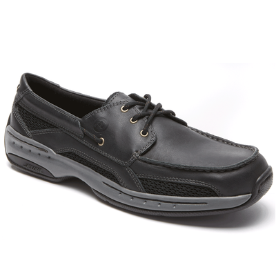 Men's CAPTAIN BOAT SHOE by Dunham Black - Brandy`s shoes