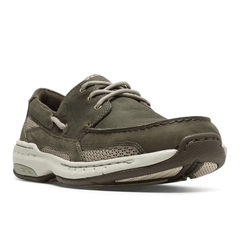 Men's CAPTAIN BOAT SHOE by Dunham Olive - Brandy`s shoes