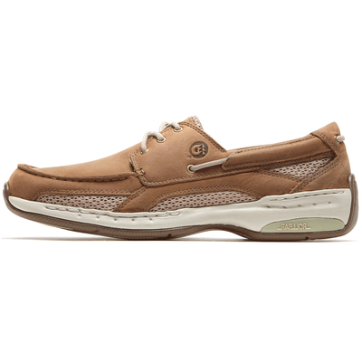 Men's CAPTAIN BOAT SHOE by Dunham Tan