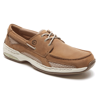 Men's CAPTAIN BOAT SHOE by Dunham Tan - Brandy`s shoes