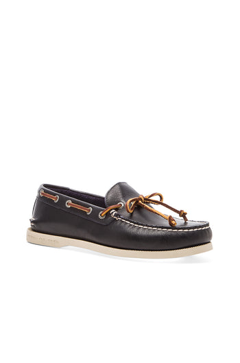 Men's Authentic Original Navy one -Eye Boat Shoe - Brandy`s shoes