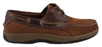 Men's Billfish 3-Eye Boat Shoe Brown - Brandy`s shoes
