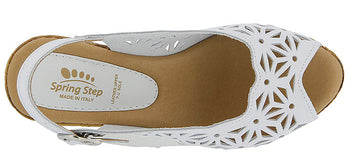 ABIGAIL WEDGED HEEL SANDAL, WHITE BY SPRING STEP