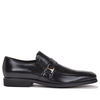 Men's ADELIO MONK-STRAP SLIP-ON By Brunomagl Black - Brandy`s shoes