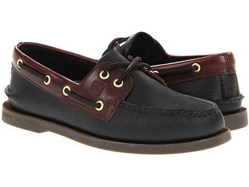 Men's Sperry Top-Sider A/O Black/Amaretto Boat Shoes