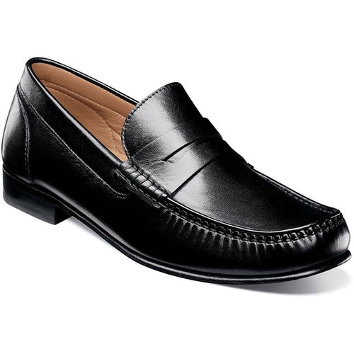 Men's Florsheim Beaufort Black Moc Toe Penny Loafer