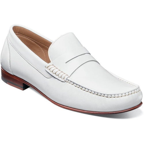 Men's Florsheim Beaufort White Moc Toe Penny Loafer