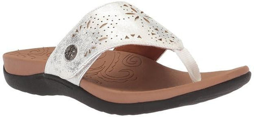 Women's Rockport RIdge Button Silver Toe-Post Sandal