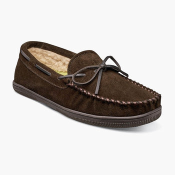 Men's Florsheim Cozzy Chocolate Moc Toe Tie Slipper