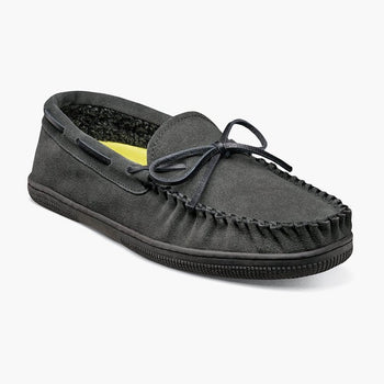 Men's Florsheim Cozzy Grey Moc Toe Tie Slipper
