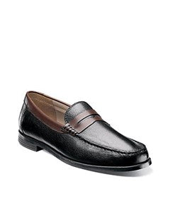 Men's Florsheim Cricket Penny Black/Brown Leather Loafers