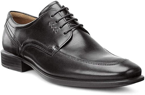 Men's Ecco Cairo Black Apron Toe Tie Dress Shoes