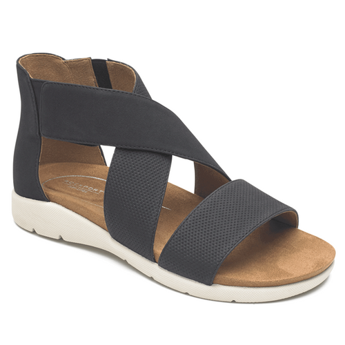 Women's Rockport Eileen 2 Cross-Strap Black Sandal