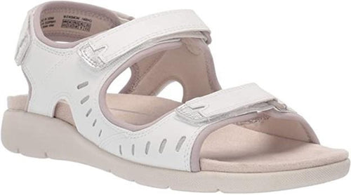 Women's Rockport Eileen Three Strap White Sandals