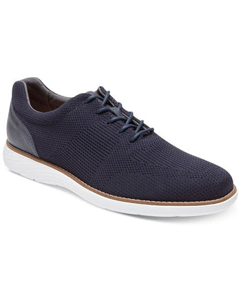 Men's Rockport Garett Navy Mesh Lace-Up Shoes