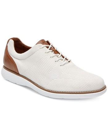Men's Rockport Garett White/Tan Mesh Lace-Up Shoes