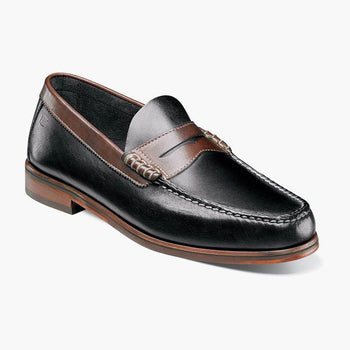 Men's Florsheim Heads Up Black/Brown Loafer