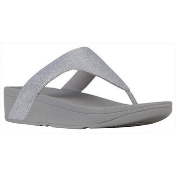 Women's FitFlop Lottie Glitzy Artisnal Silver Toe-Post Sandal