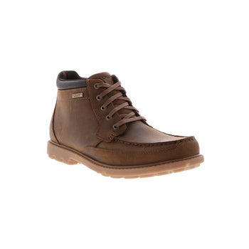 Men's Rockport Moc Toe Waterproof Brown Boots