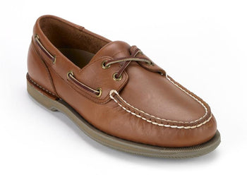 Men's Rockport Perth Timber Tan Boat Shoes