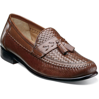 Men's Florsheim Swivel Weave Cognac Moc Tassel Loafer