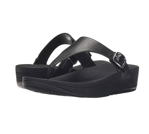 Women's FitFlop The-Skinny Leather Toe-Post Sandals