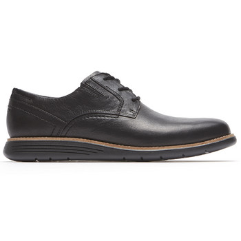 Men's Rockport Total Motion Sport Dress Black Plain Toe Shoes