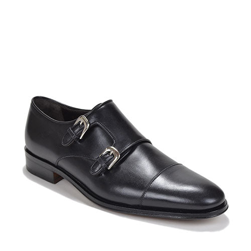 Men's WESLEY MONK-STRAP By Brunomagl Black - Brandy`s shoes