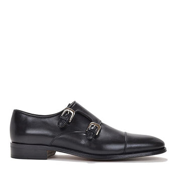 Men's WESLEY MONK-STRAP By Brunomagl Black
