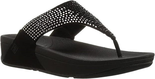 Women's FitFlop Flare Black Toe-Post Sandals
