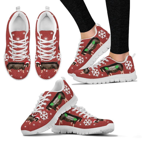 Poland China Pig Christmas Running Shoes For Women-Free Shipping-Paww-Printz-Merchandise