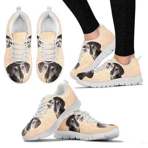 Sloughis Dog Print-(Black/White) Running Shoes For Women-Express Shipping-Paww-Printz-Merchandise