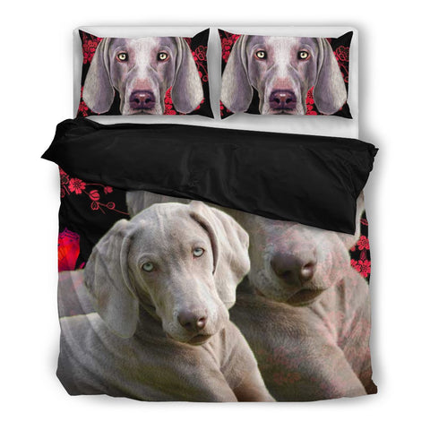 Amazing Weimaraner Print Bedding Set- Free Shipping