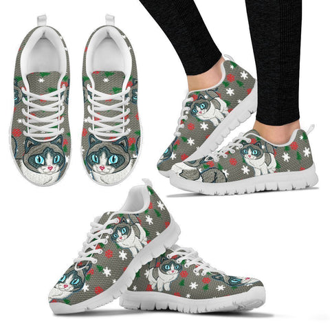 Ragdoll Cat Christmas Print Running Shoes For Women-Free Shipping-Paww-Printz-Merchandise