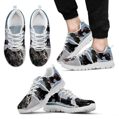 Labrador Collage-Dog Running Shoes For Men-Free Shipping Limited Edition-Paww-Printz-Merchandise
