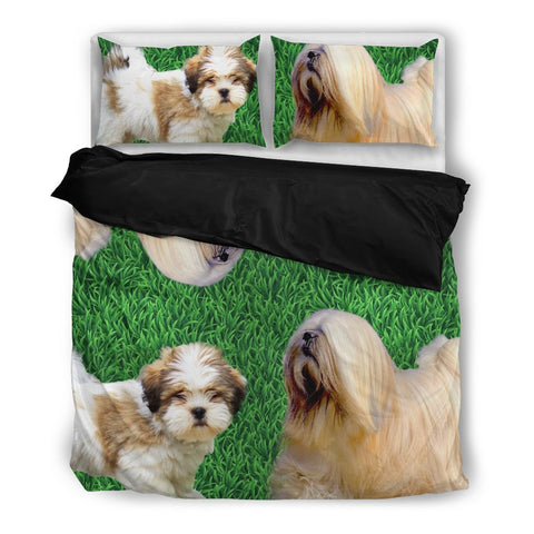 Cute Lhasa Apso Print Bedding Set- Free Shipping