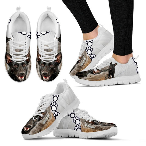 Customized Dog Print Sneakers For Women(White)-Designed By Andrea Frey-Express Shipping-Paww-Printz-Merchandise
