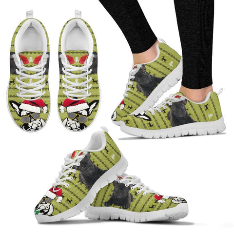 Cute French Bulldog Print Christmas Running Shoes For Women-Free Shipping-Paww-Printz-Merchandise