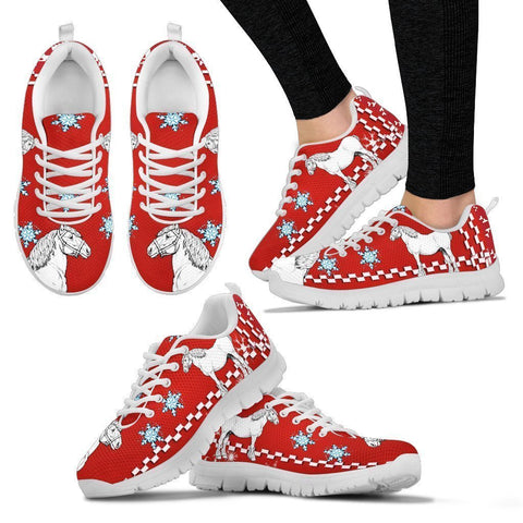 Clydesdale Horse Christmas Running Shoes For Women- Free Shipping-Paww-Printz-Merchandise