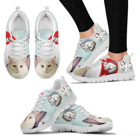 Turkish Van Christmas Running Shoes For Women- Free Shipping-Paww-Printz-Merchandise