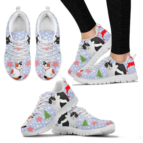 Japanese Bobtail Christmas Running Shoes For Women- Free Shipping-Paww-Printz-Merchandise