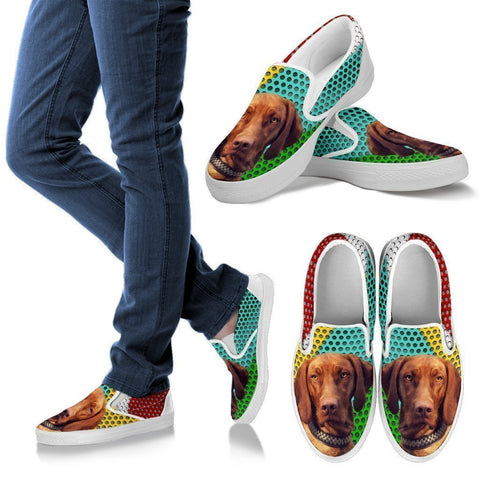 Awesome Vizsla Dog Print Slip Ons For Women-Free Shipping-Paww-Printz-Merchandise