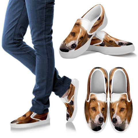 American Foxhound Print Slip Ons For Women- Express Shipping-Paww-Printz-Merchandise