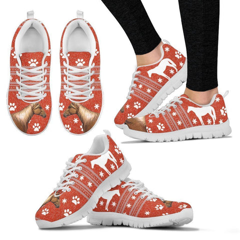 Kentucky Mountain Saddle Horse Print Christmas Running Shoes For Women-Free Shipping-Paww-Printz-Merchandise