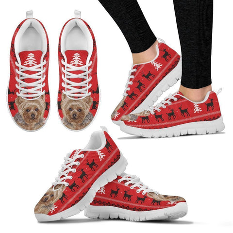 Yorkshire Terrier (Yorkie) Christmas Running Shoes For Women- Free Shipping-Paww-Printz-Merchandise