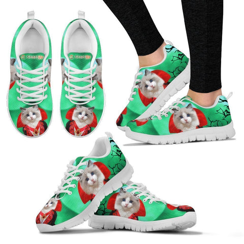 Ragdoll Cat (Halloween) Print-Running Shoes For Women-Free Shipping-Paww-Printz-Merchandise